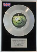 "x JOHN LENNON - 7"" Single Platinum Disc - IMAGINE"